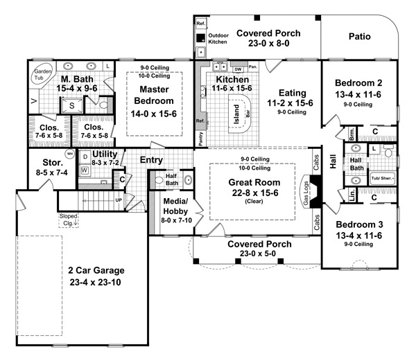 floor plan house. 1st Floor Plan: