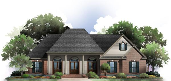 The Bellmont front house plan elevation