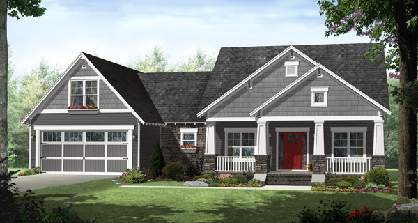The Madeline Lane front house plan elevation