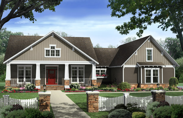 The Morgan Ridge front house plan elevation