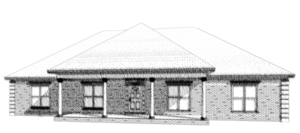 Morgan 2 front house plan elevation