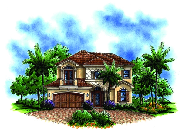 Ravello II front house plan elevation