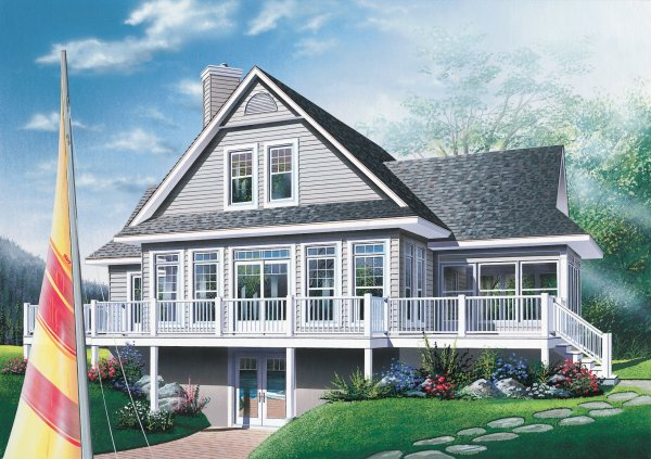 front house plan elevation